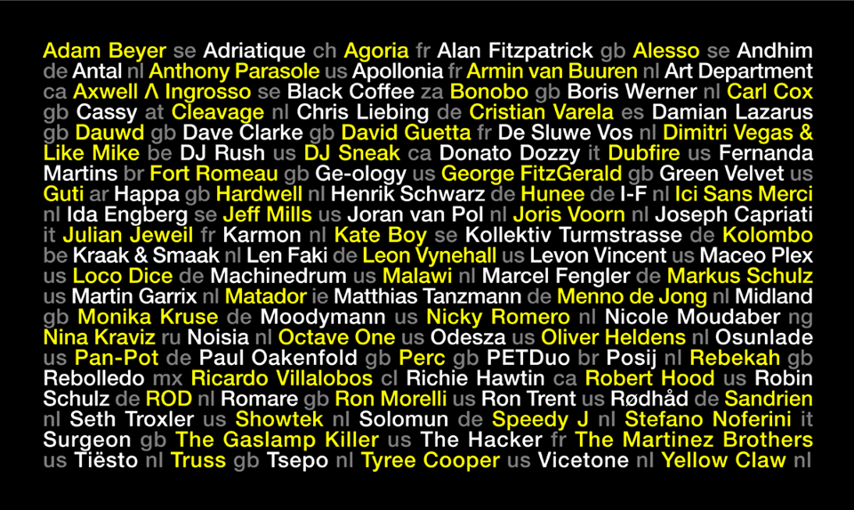 Amsterdam Dance Event artists