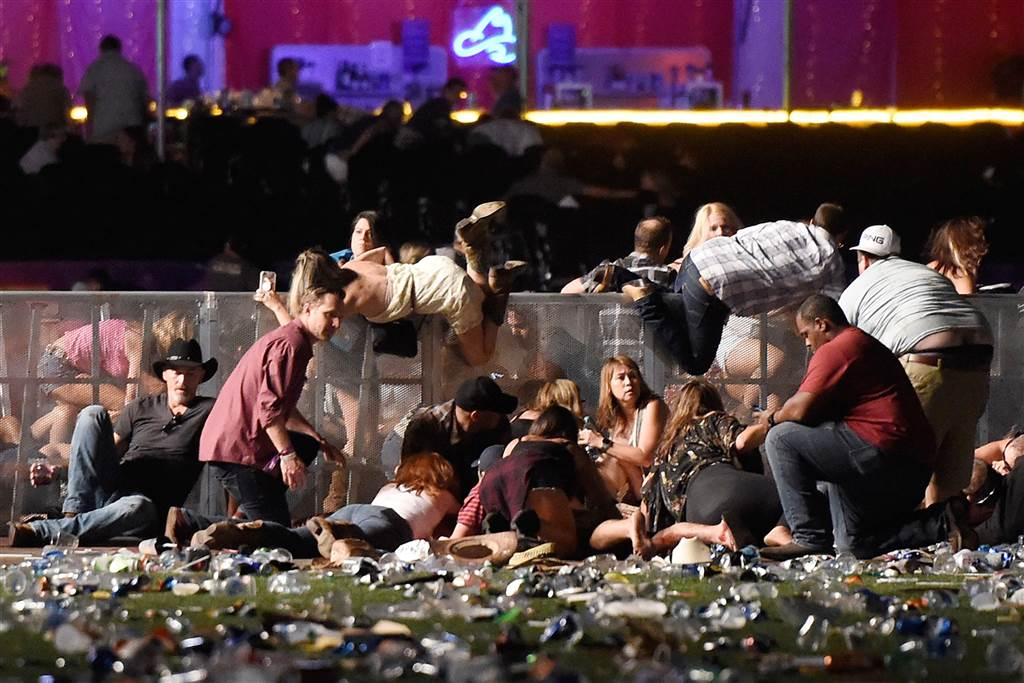 Couple says gunman complained about their music hours before Las Vegas shooting