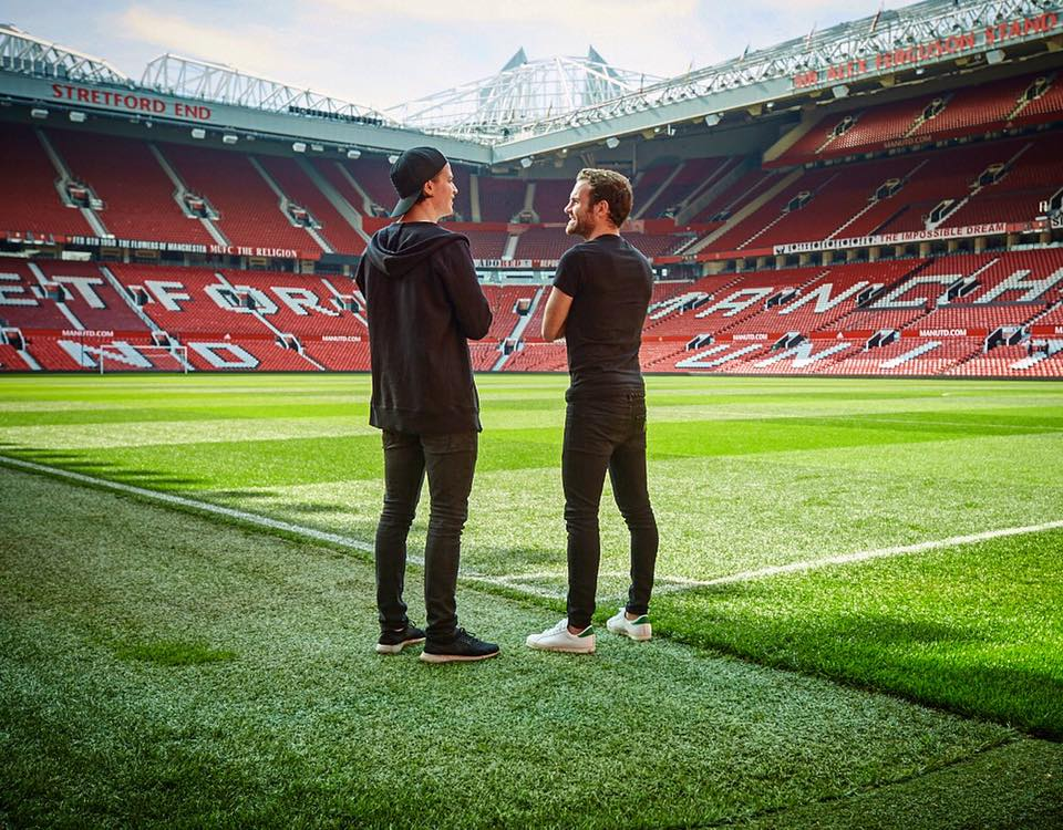 via fb Kygo and Mata at Old Trafford