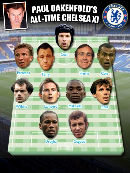 Paul`s all time Chelsea XI by The Sun