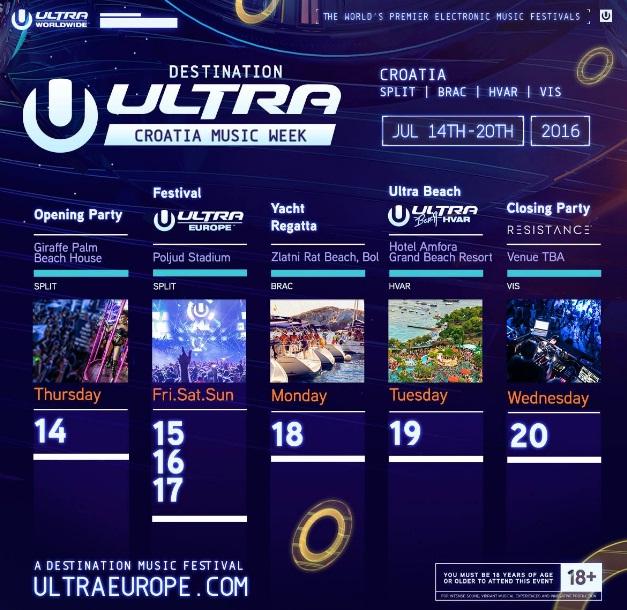 Ultra schedule