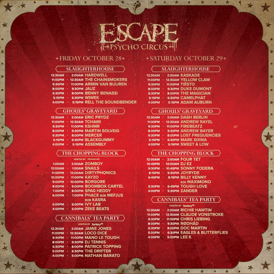 insomniac to introduce on site drug education at escape psycho circus