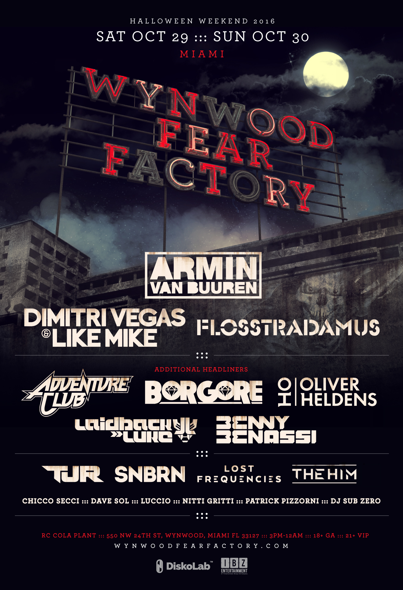 Wynwood Fear Factory's Lineup