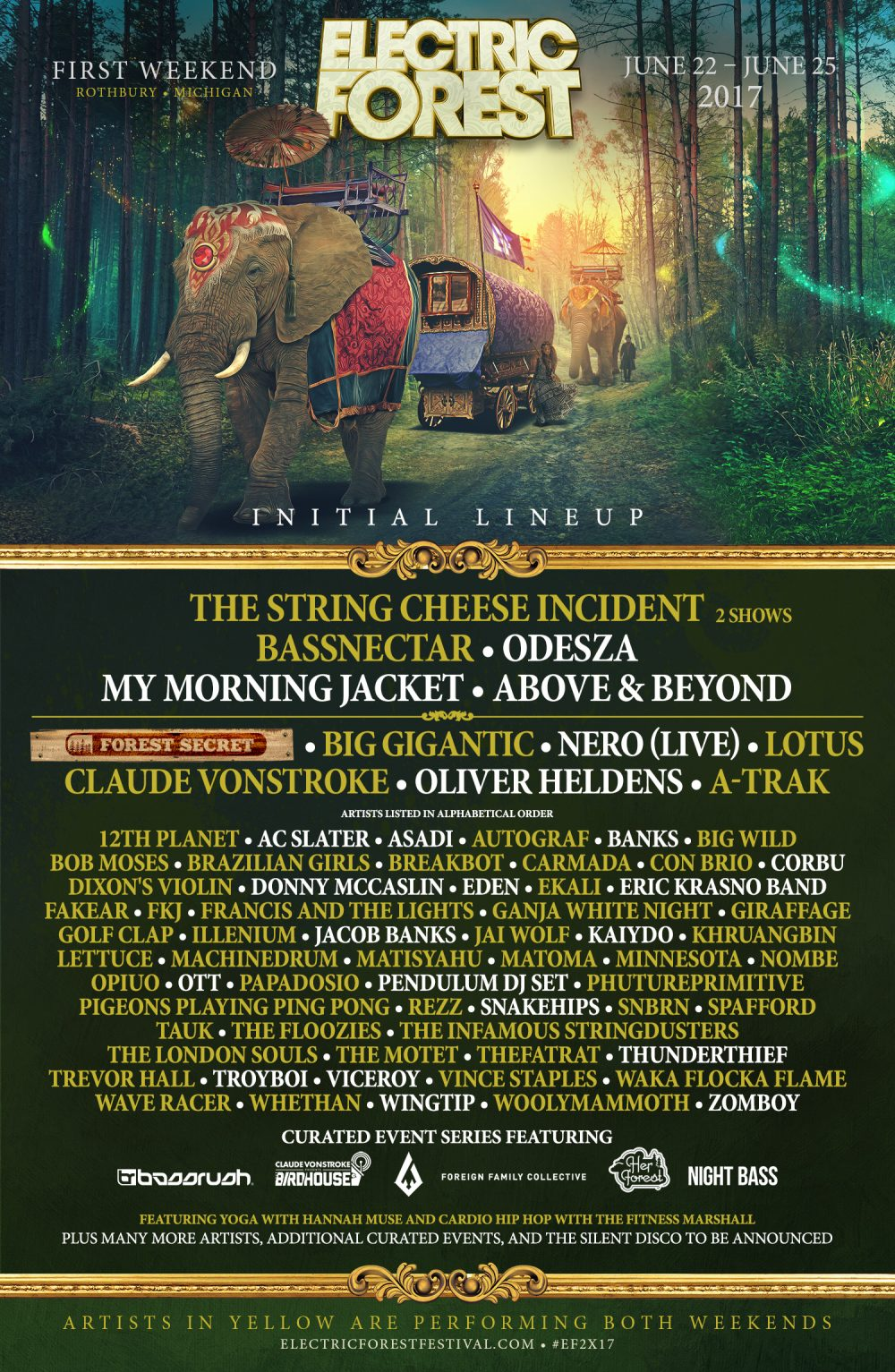 Electric Forest lineup