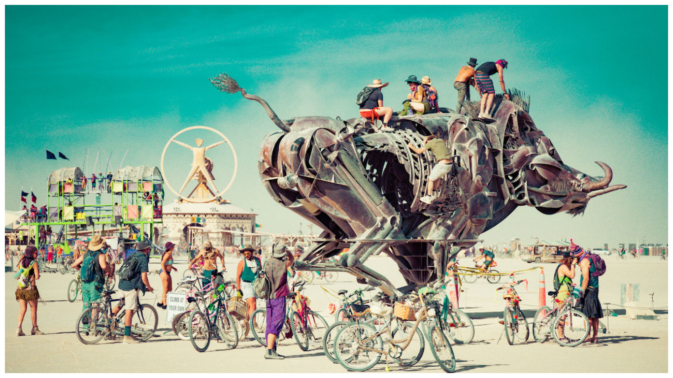 burning man announced their radical ritual theme for the. Black Bedroom Furniture Sets. Home Design Ideas