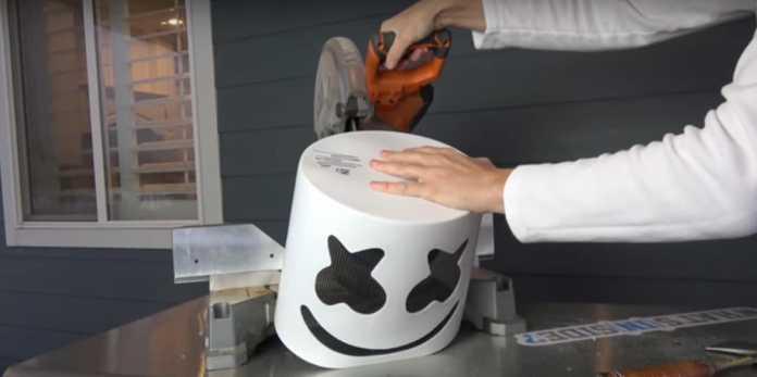 Marshmello's helmet