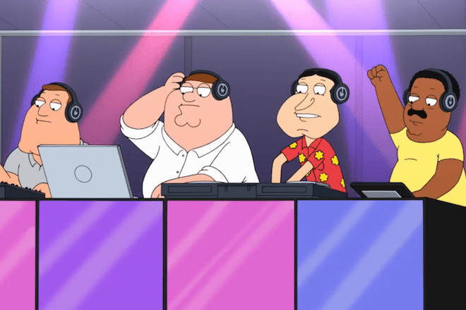 Family guy mocks EDM culture