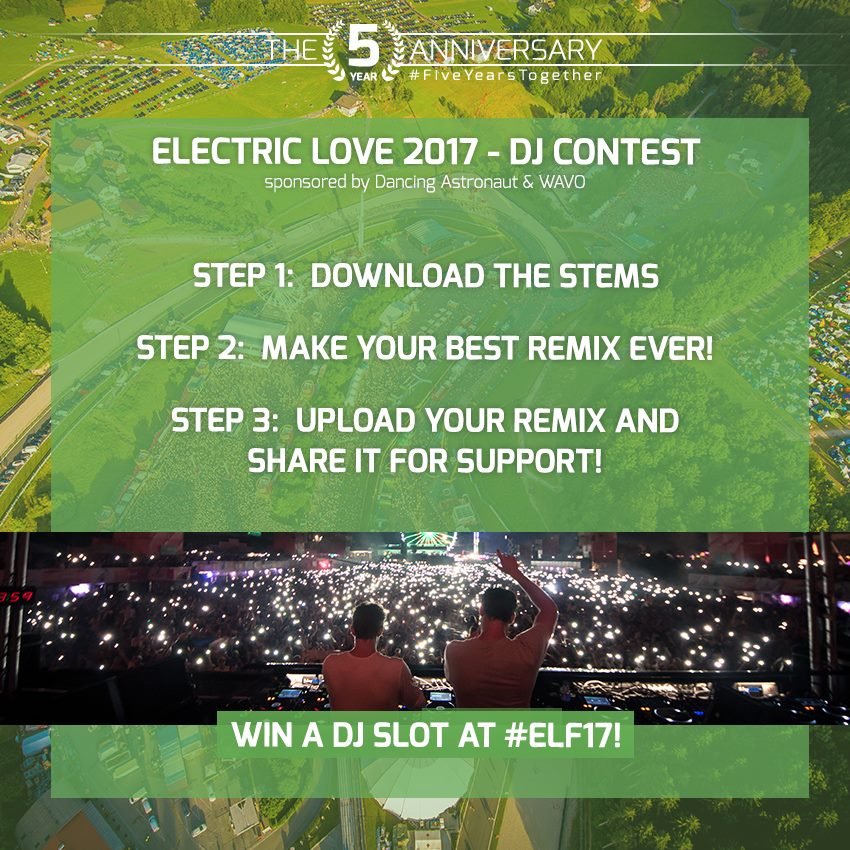 electric love remix competition