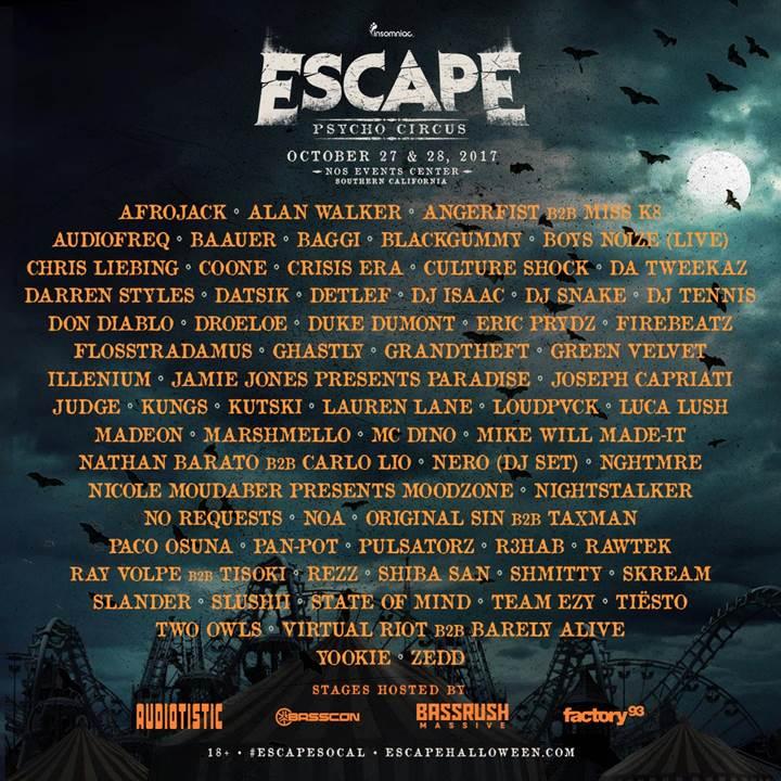 escape psycho circus 2017