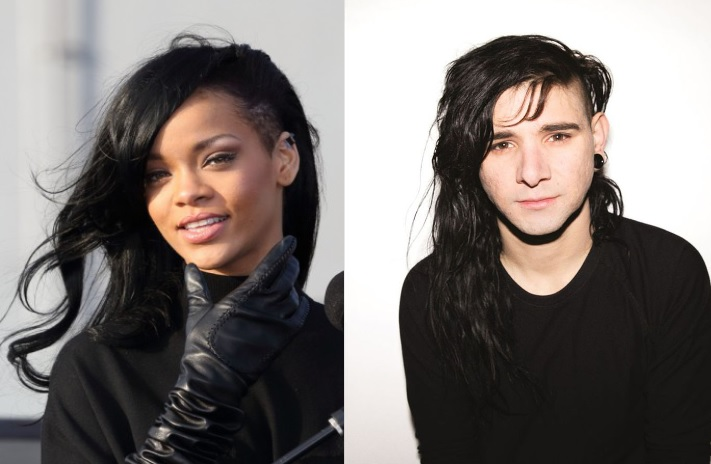 skrillex and rihanna working on a song together with blackbear
