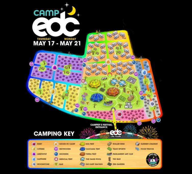 EDC Las Vegas 2018 Camping