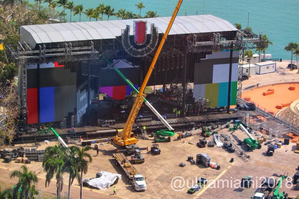 Ultra Music Festival Main stage Starting to Take Shape! [PHOTOS]