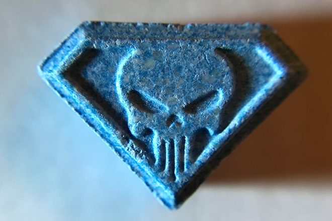 blue punisher ecstasy pill