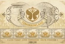 tomorrowland post stamps