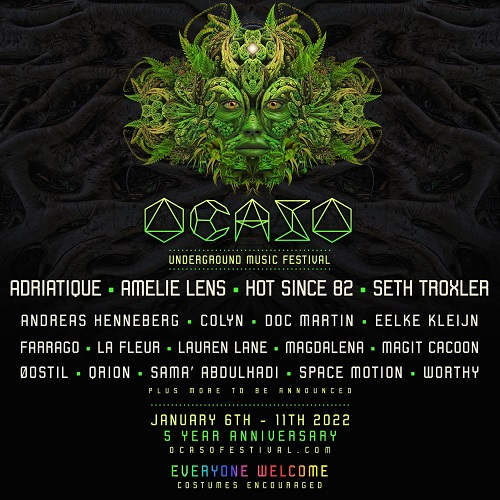 Costa Rica's Ocaso Underground Festival rolls out first phase of 2022 lineup featuring  Hot Since 82, Seth Troxler, Qrion, and moreOcaso 2022 Lineup Square